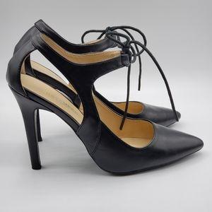 Revamped black heels, 8, like new